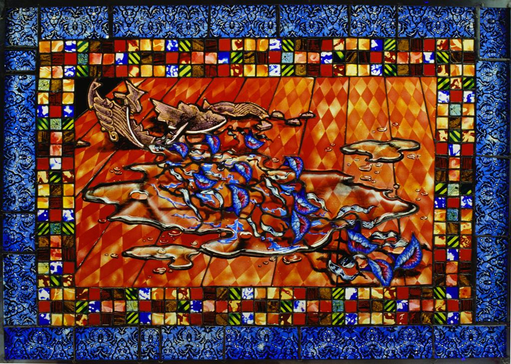 Spilled Life , 30″ × 21″, 1991