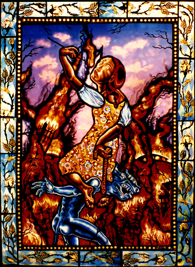 Feeds On Fire, 21″ × 30″, 1992