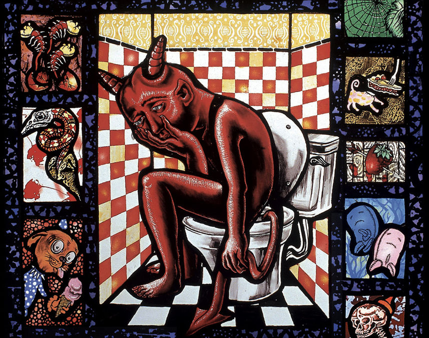 Lucifer Poops, 16″ × 19″, 1993