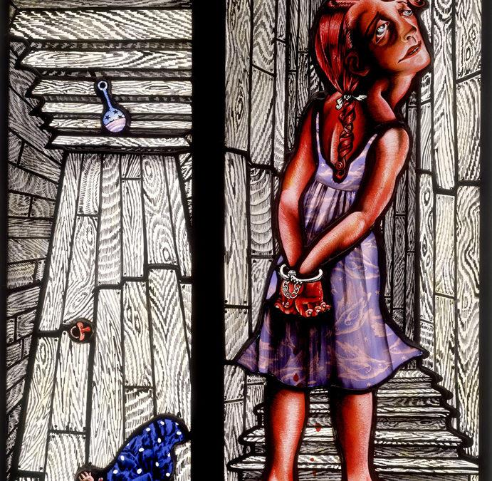 Murder and Child, 15″ × 23″, 1993