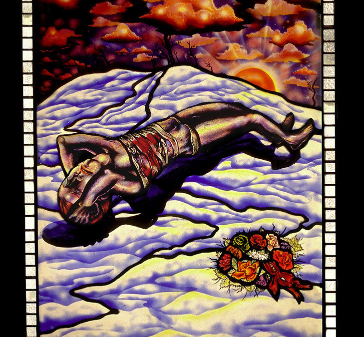Another Ugly Sunset, 22″ × 32″, 1995