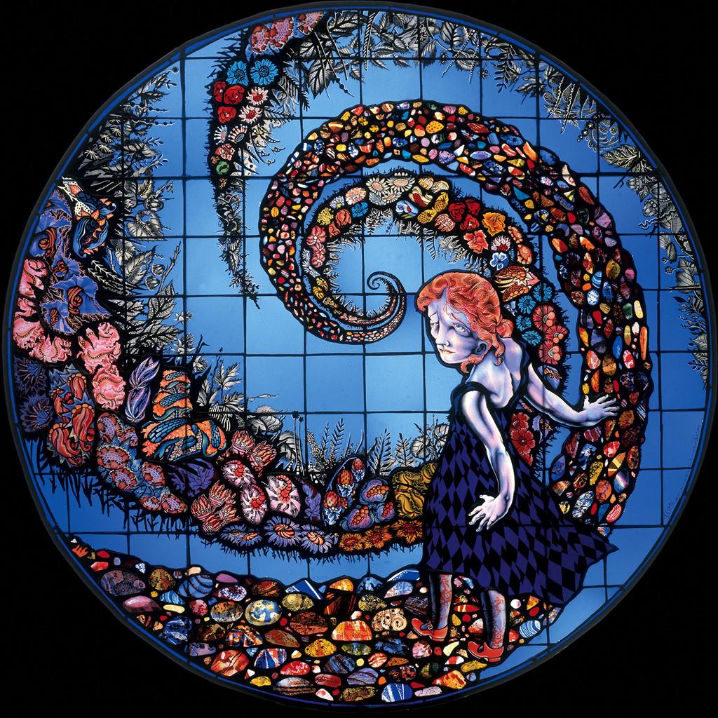 Swan Dive, 3′ diameter, 1996
