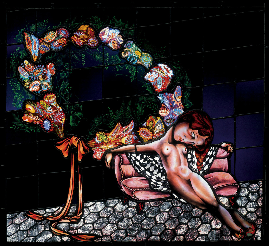 Waif and Wreath, 28″ × 24″, 1996