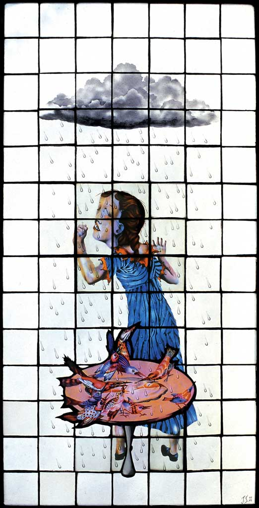 Birdbath, 18″ × 35″, 1999