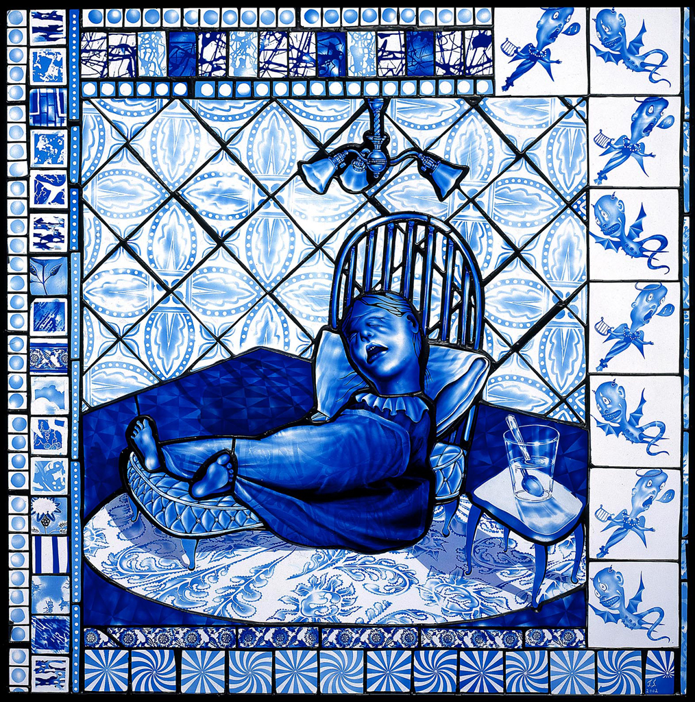 Dutch Tile Fever, 30″ × 31″, 2002