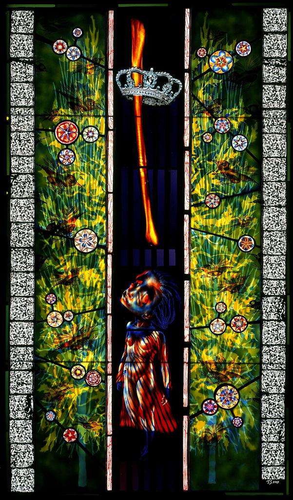 Ancestor Worship, 25″ × 42″, 2003