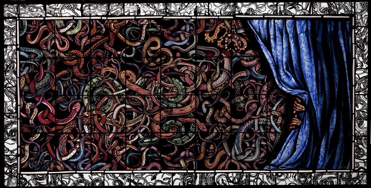 A Play About Snakes, 27″ x 52″, 2013