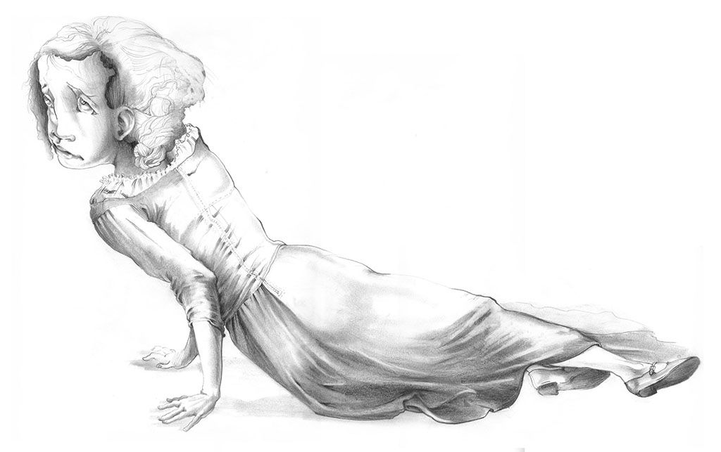 Christina, graphite, 2006