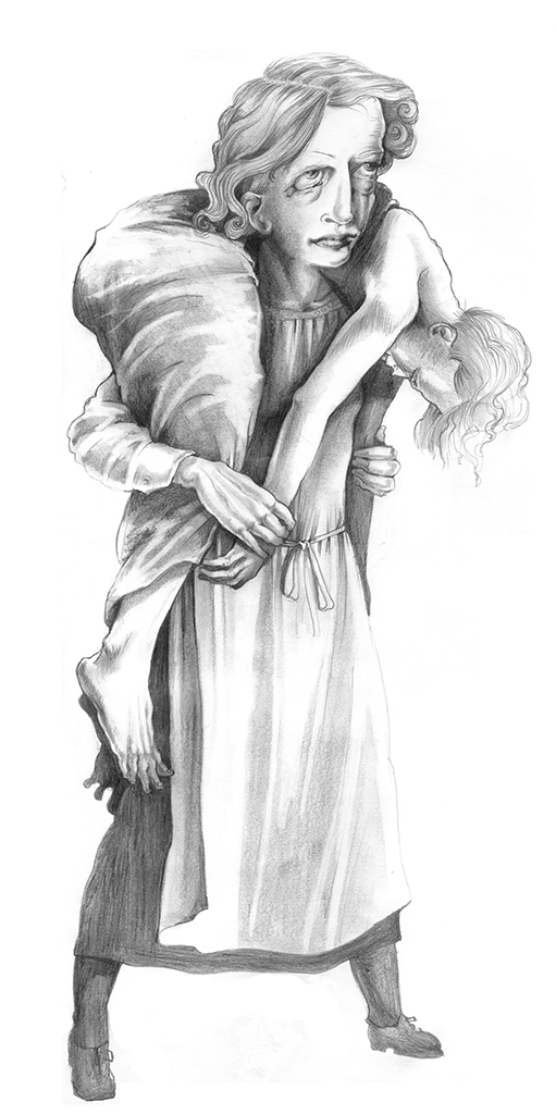 Mother and Child, graphite, 2006