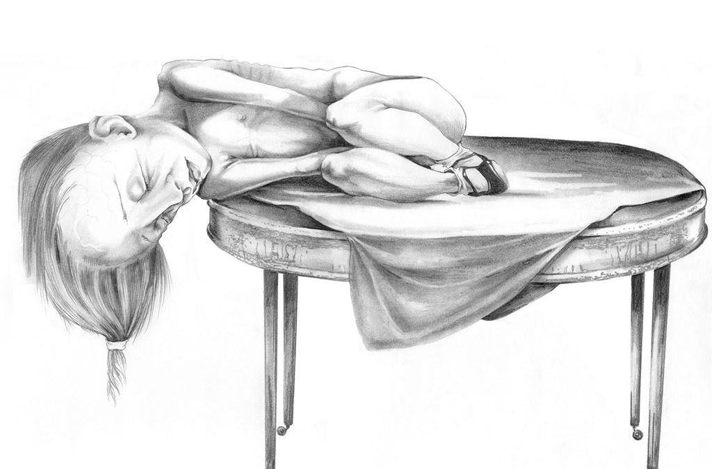 Agnus Dei, graphite, 20″ × 16″, 2006
