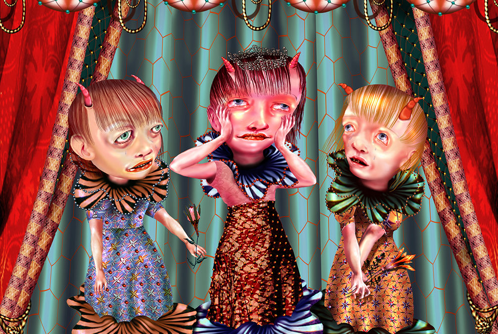 THE PRETTIEST GIRL IN HELL, PIGMENT PRINT, 40″ × 42″, 2002