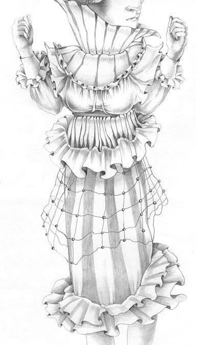 Joan of Arc, Joan of Arc, graphite, 12″ × 20″, 2007