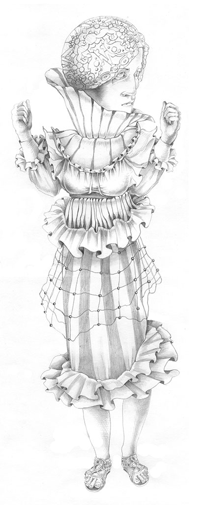 Joan of Arc, Joan of Arc, graphite, 12″ × 20″, 2007