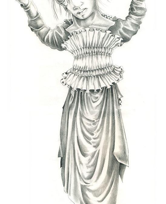 Mad Meg, graphite, 24″ x 14″, 2007