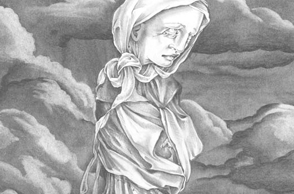Widow, detail