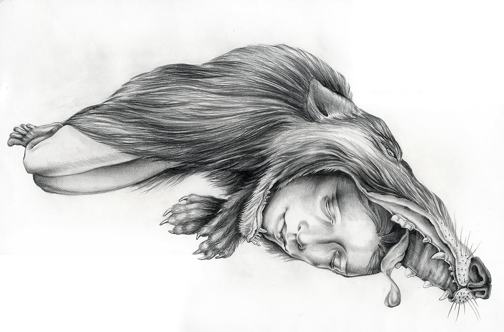 Feral Child, graphite, 2010