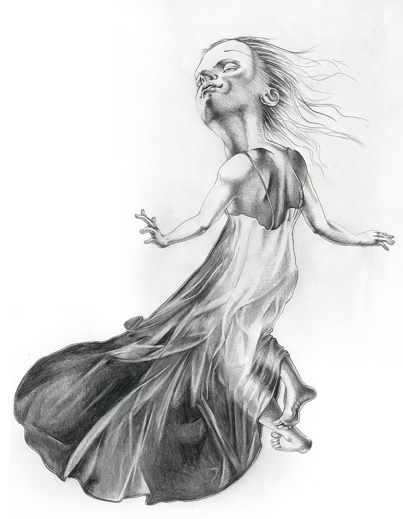 New Ghost, graphite, 2014