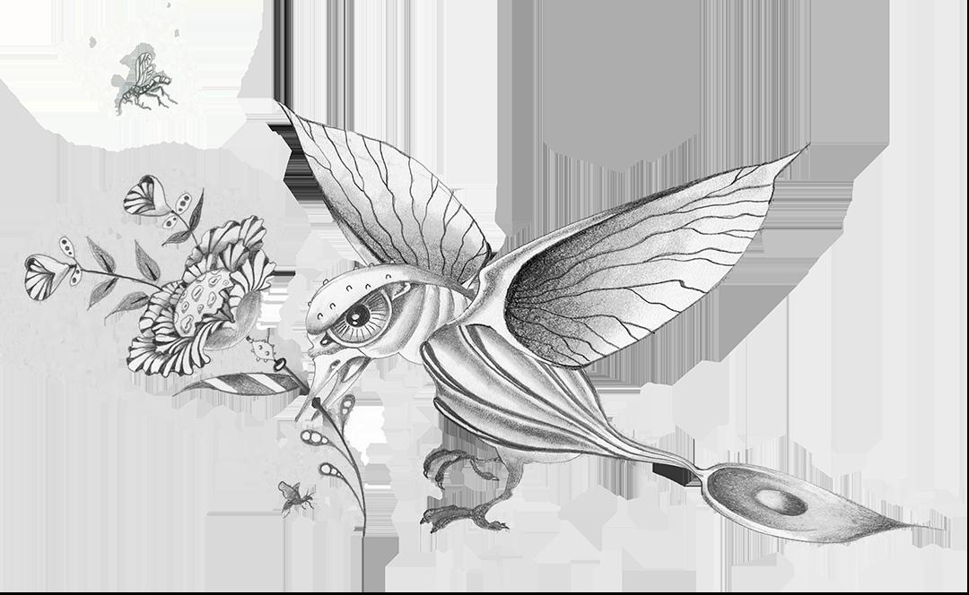 Bird by Judith Schaechter
